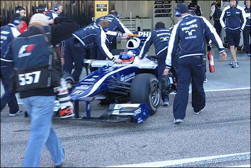 Williams FW32. Февраль 2010, тесты